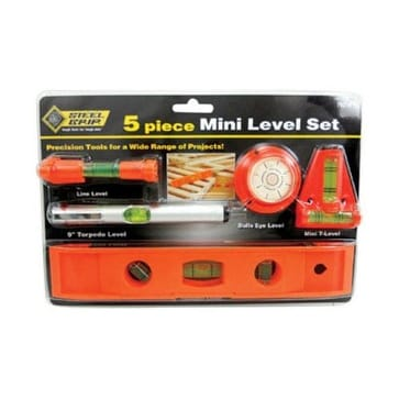 "Steelgrip DR64343 Mini Level Set, 9"", 5 Piece"