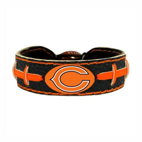 Chicago Bears NFL Team Color Gamewear Leather Football Bracelet