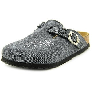 Rock Star Baby Boston RSB Youth N Round Toe Canvas Gray Mules