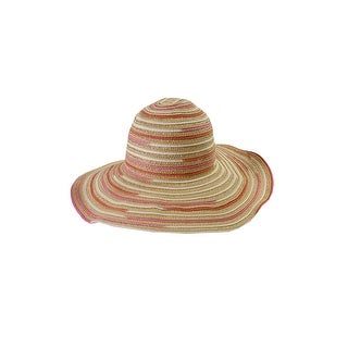 Calvin Klein Beige Multi Striped Floppy Hat OS
