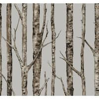 York Wallcoverings LL4757 Urban The Birches Wallpaper - N/A
