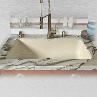 """Miseno MCI54-0UM 33"""" Single Basin Undermount Cast Iron Kitchen Sink"""