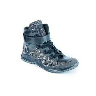 Roberto Cavalli Embossed Animal Print High-Top Sneakers