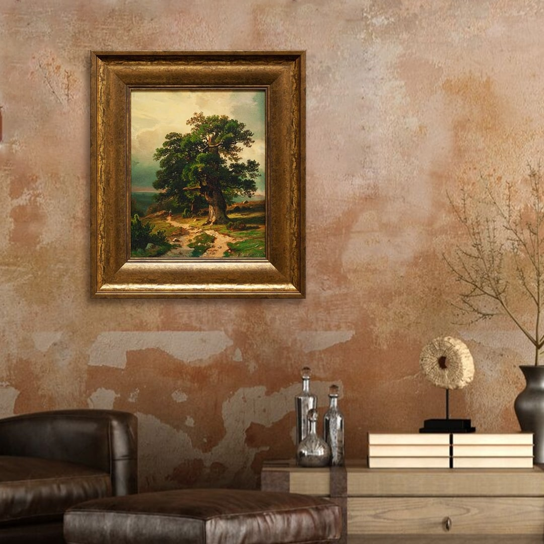 Oak By Ivan Shishkin Oil Painting Print On Museum Quality Canvas Gold 14 X 17 Framed Painting Overstock 28010240