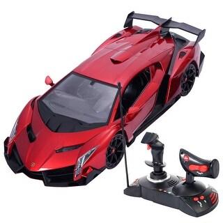 Costway 1/14 Lamborghini Veneno Electric Sport Radio Remote Control RC Car Red Kids Toy