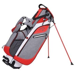 New Callaway Hyper-Lite 3 Stand Bag (Gray / Orange / White) - gray / orange / white