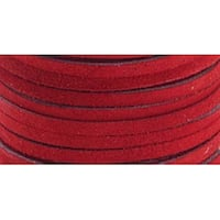 "Red - Suede Lace .125""X25yd Spool"