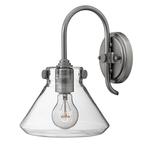 Hinkley Lighting 3176 1 Light Indoor Wall Sconce with Clear Cone Shade from the Congress Collection