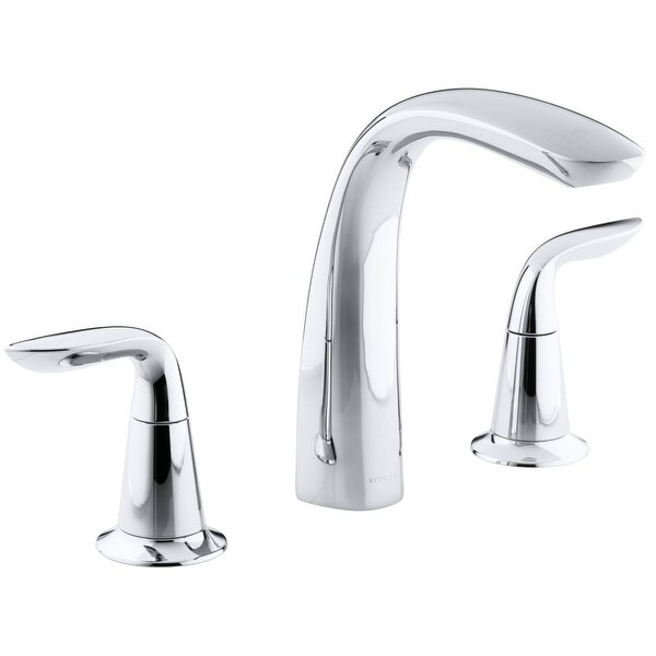 Shop Kohler K T5323 4 Refinia Double Handle Roman Tub Filler Faucet Less  Valve And Diverter   N/a   Free Shipping Today   Overstock.com   16317998