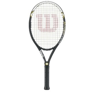 Wilson Hyper Hammer 5.3 Strung Adult Tennis Racket (Black/White - Sz. 4 1/2)