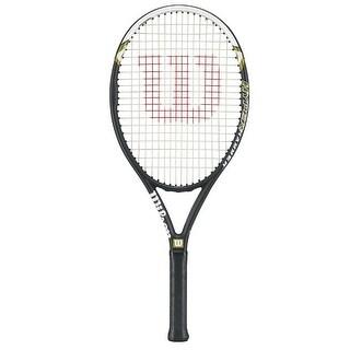 Wilson Hyper Hammer 5.3 Strung Tennis Racket (Black/White - Sz. 4 3/8)