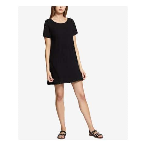 SANCTUARY Black Short Sleeve Above The Knee Dress S