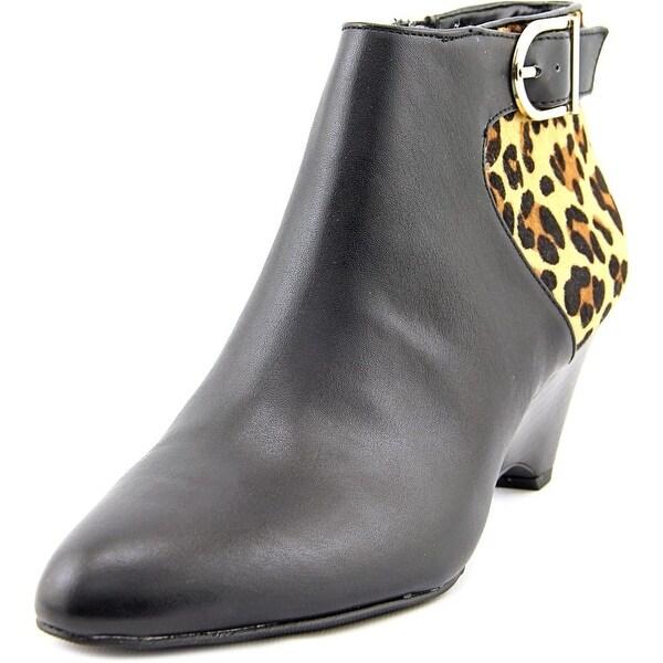 Alfani Ulrika Round Toe Leather Bootie