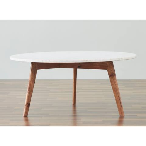 Nero white authentic marble coffee table