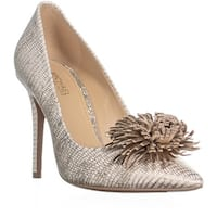 MICHAEL Michael Kors Lolita Pump Tassel Heels, Pale Gold - 5.5 us / 35.5 eu