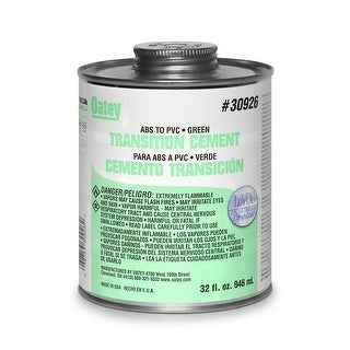 Oatey 30926 ABS To PVC Transition Solvent Cement, 32 Oz, Green