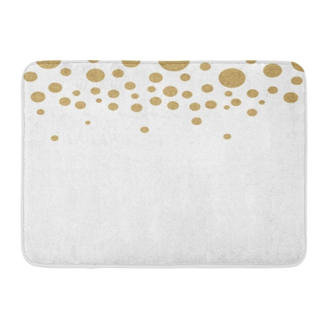Brown Abstract Gold Circle Polka Dots Yellow Bronze Rough Light Doormat Floor Rug Bath Mat 23 6x15 7 Inch Multi On Sale Overstock 31773123