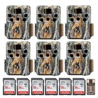Browning Dark Ops HD Trail Camera (Camo, 6) with 16GB Memory Card (6) and Reader - Camouflage