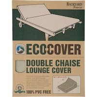 """""""Backyard Basics 07300GD Backyard Basics Eco-Cover Double Chaise Lounge Cover - Supports Chaise Lounge - Fabric Material"""""""