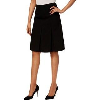 Kasper Womens A-Line Skirt Pleated A-Line
