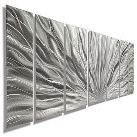 Statements2000 Silver Etched Modern Metal Wall Art Sculpture By Jon Allen    Silver Plumage