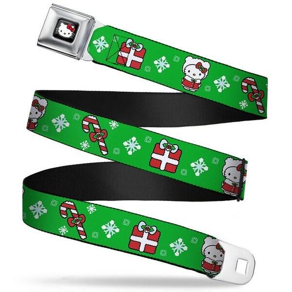 Hello Kitty W Red Bow Full Color Black Hello Kitty Christmas 1 Webbing Seatbelt Belt