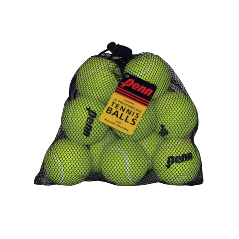 Head-Penn Pressureless Tennis Balls with Mesh Bag, Pack of 12