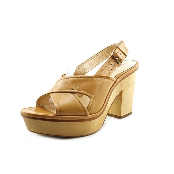 Pour La Victoire Pabla Open Toe Leather Platform Sandal