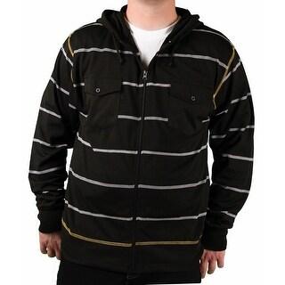 Brooklyn Xpress Men's Striped Knit Hoodie
