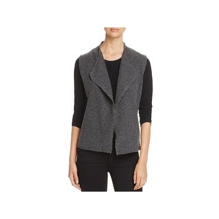 Eileen Fisher Womens Sweater Vest Wool Heather