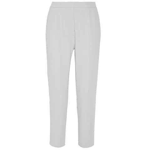 Maison Margiela Gray Crepe Cropped Pants Size 40