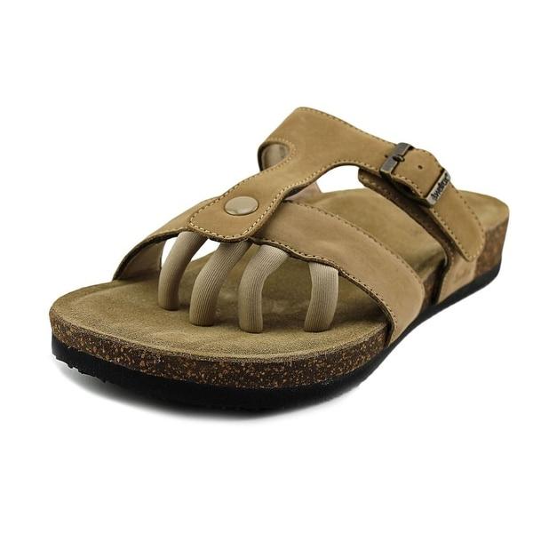 Wellrox Sedona Women  Open Toe Leather Tan Slides Sandal