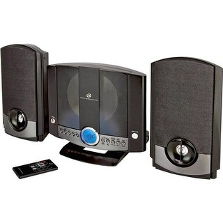 GPX HM-3817DTBLK Home Music System with Auxillary Input