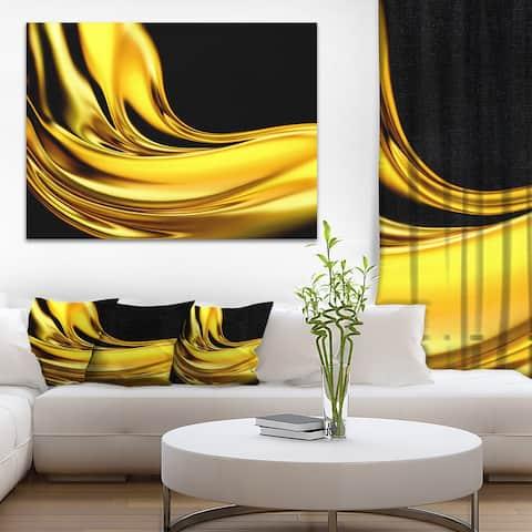 Designart 'Yellow Gold Texture Pattern' Abstract Digital Art Canvas Print