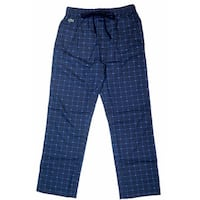 Lacoste Men's Navy Croc-Print Lounge Sleep Pants