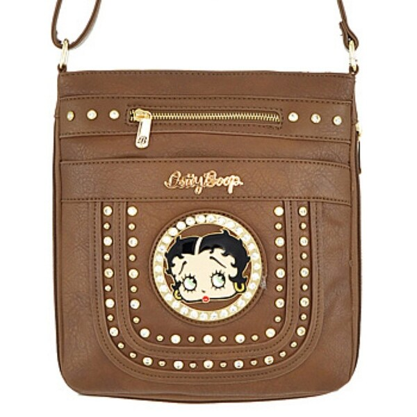 431c8383642e Shop BETTY BOOP MESSENGER BAG-Brown - Free Shipping On Orders Over ...