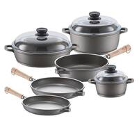 Range Kleen 671209W 9 Piece Tradition Induction Cookware Set