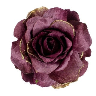 "Link to 5"" Pink Artificial Rose Clip-On Christmas Ornament Similar Items in Christmas Decorations"