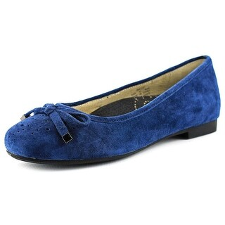 Propet Emma Women Round Toe Suede Blue Flats