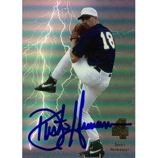 Signed Hermanson Dustin 1994 Classic Games baseball Card autographed