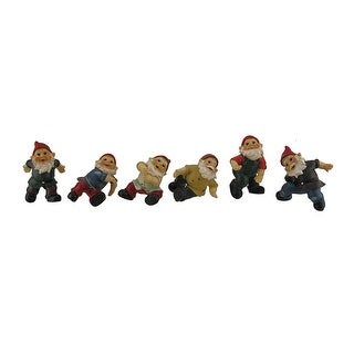 Set of 6 Whimsical Gnome Figurine Plant Pot Hangers