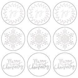 "Silver Joy-Lucky Dip Foil Stickers 4""X4"" 3/Pkg"