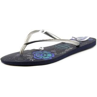Havaianas Spring Women Open Toe Synthetic Blue Flip Flop Sandal