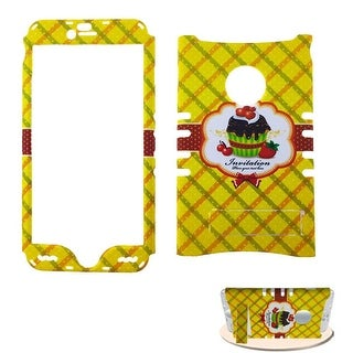 Rocker Snap-On Protective Case for Apple iPhone 6 Plus (Cake Design/Yellow)