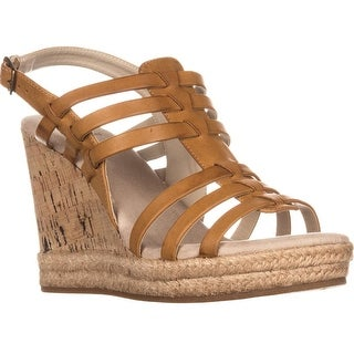 White Mountain Veronique Wedge Sandals, Natural