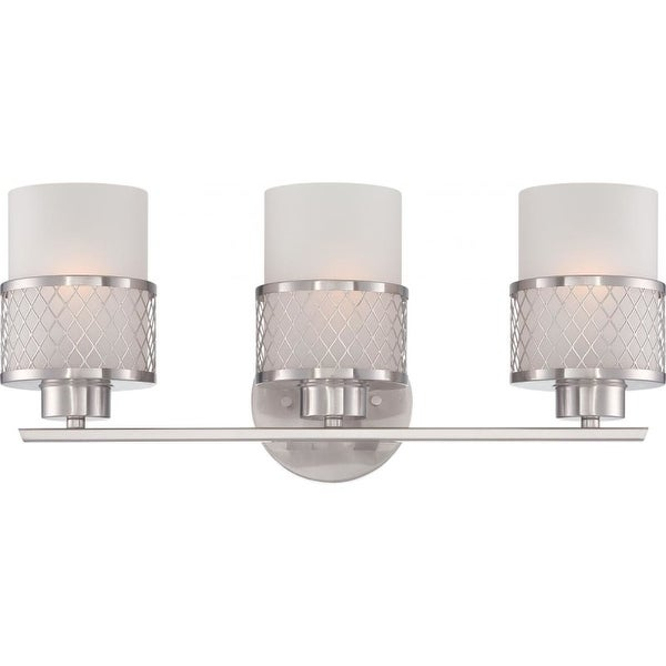 Nuvo Lighting 60/4683 Fusion Three Light Bathroom Fixture with Frosted Glass