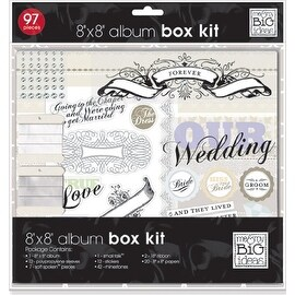 me & my BIG ideas Our Wedding Scrapbook Box Kit, 8-Inch by 8-Inch