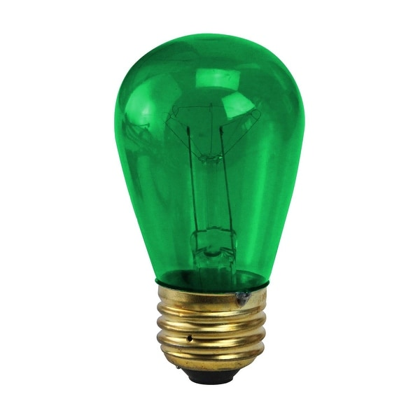 Pack of 25 Incandescent S14 Green Christmas Replacement Bulbs