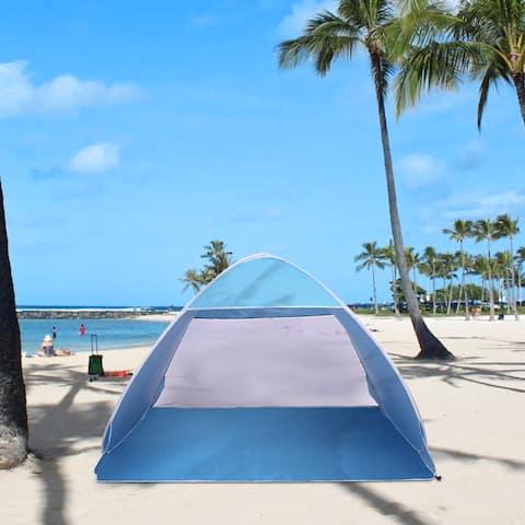 2-3 Person Beach Tent Pop Up Sun Shelter Tent