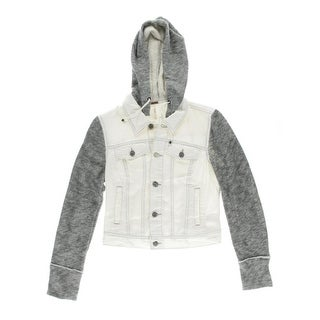 Free People Womens Denim Hooded Denim Jacket - XS